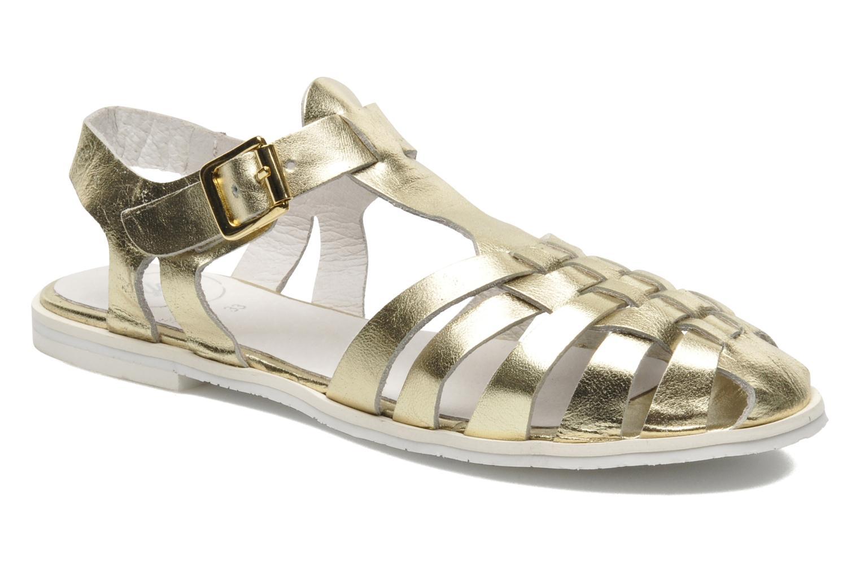 Sandales et nu-pieds Yep Bernice Or et bronze vue détail/paire