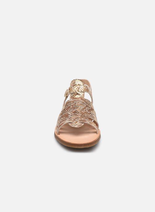 Sandales et nu-pieds Yep Bilbao Or et bronze vue portées chaussures
