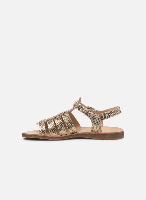 Sandales et nu-pieds Yep Bilbao Or et bronze vue face
