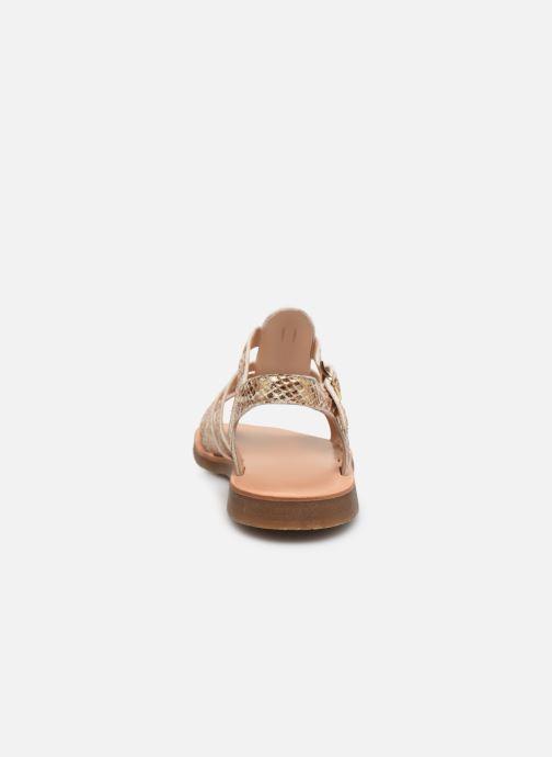 Sandales et nu-pieds Yep Bilbao Or et bronze vue droite