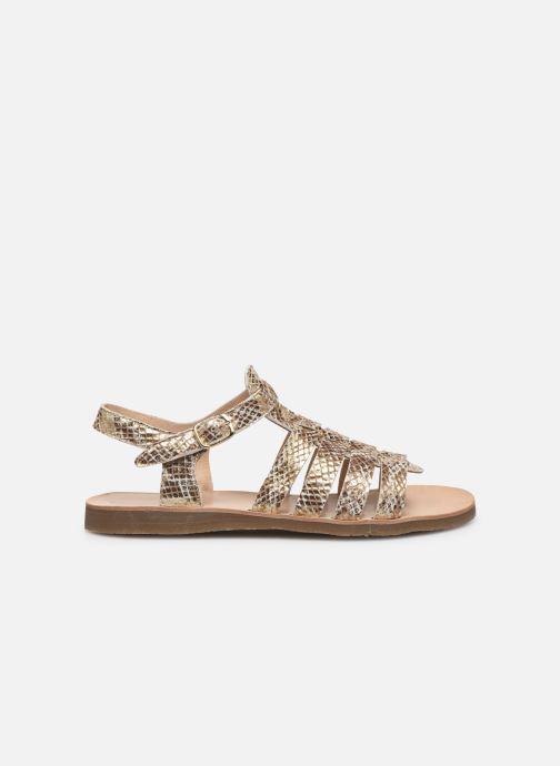 Sandales et nu-pieds Yep Bilbao Or et bronze vue derrière
