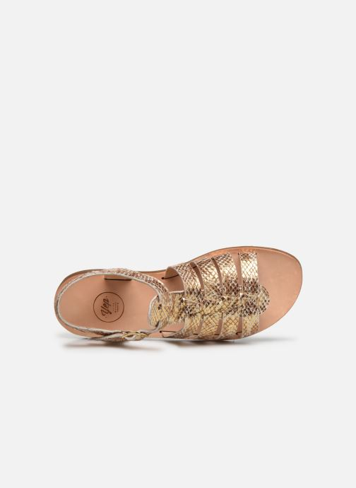 Sandales et nu-pieds Yep Bilbao Or et bronze vue gauche
