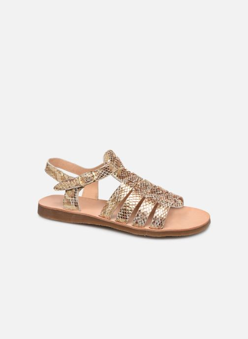 Sandales et nu-pieds Yep Bilbao Or et bronze vue détail/paire