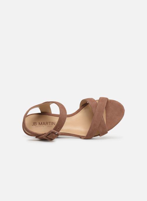 Sandales et nu-pieds JB MARTIN QUERIDA Rose vue gauche