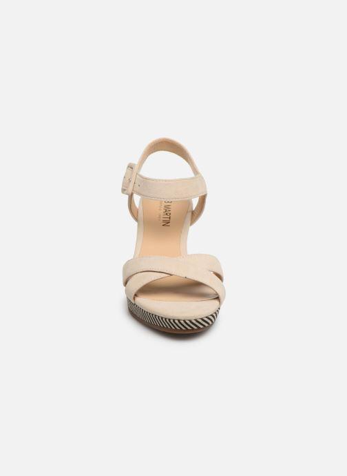 Sandales et nu-pieds JB MARTIN QUERIDA Beige vue portées chaussures