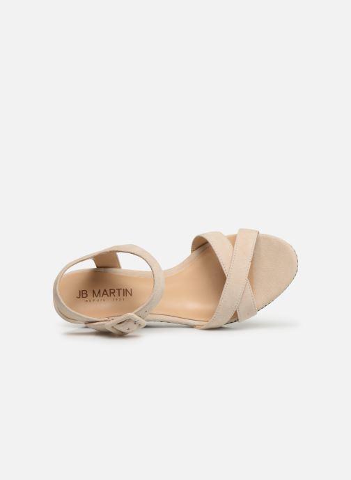 Sandales et nu-pieds JB MARTIN QUERIDA Beige vue gauche