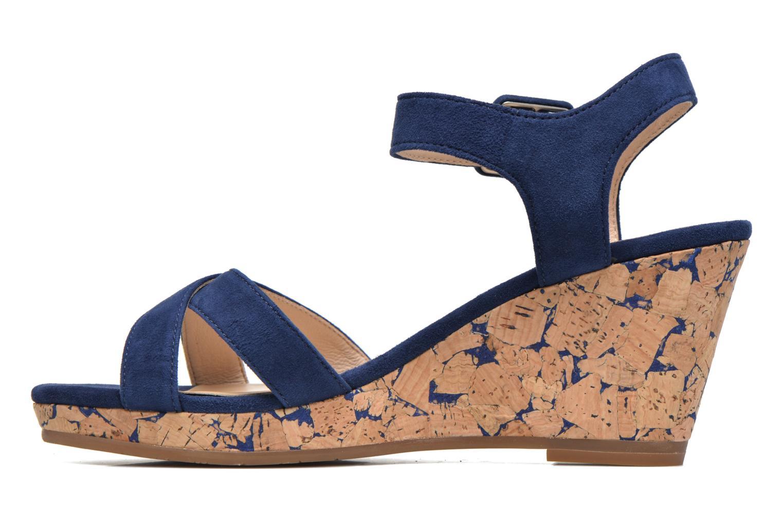 Sandales et nu-pieds JB MARTIN Querida Bleu vue face