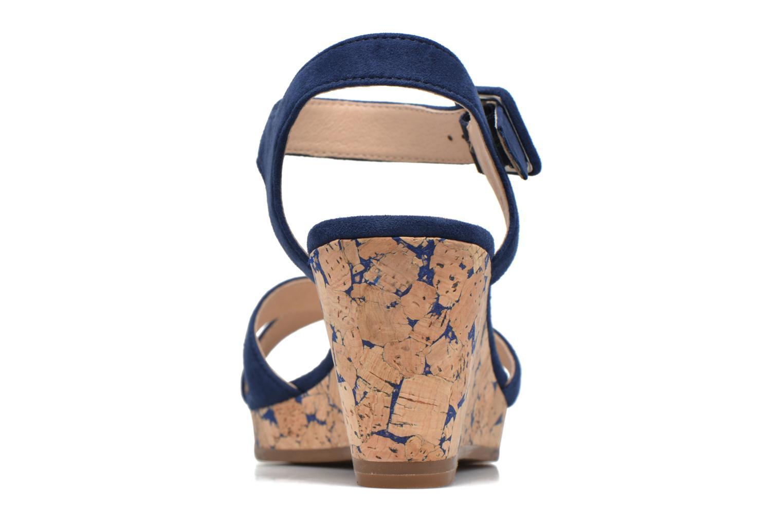Sandales et nu-pieds JB MARTIN Querida Bleu vue droite