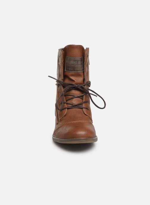 Bottines et boots Mustang shoes Julie Marron vue portées chaussures