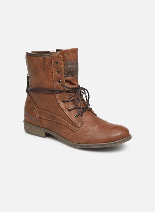 Bottines et boots Mustang shoes Julie Marron vue détail/paire