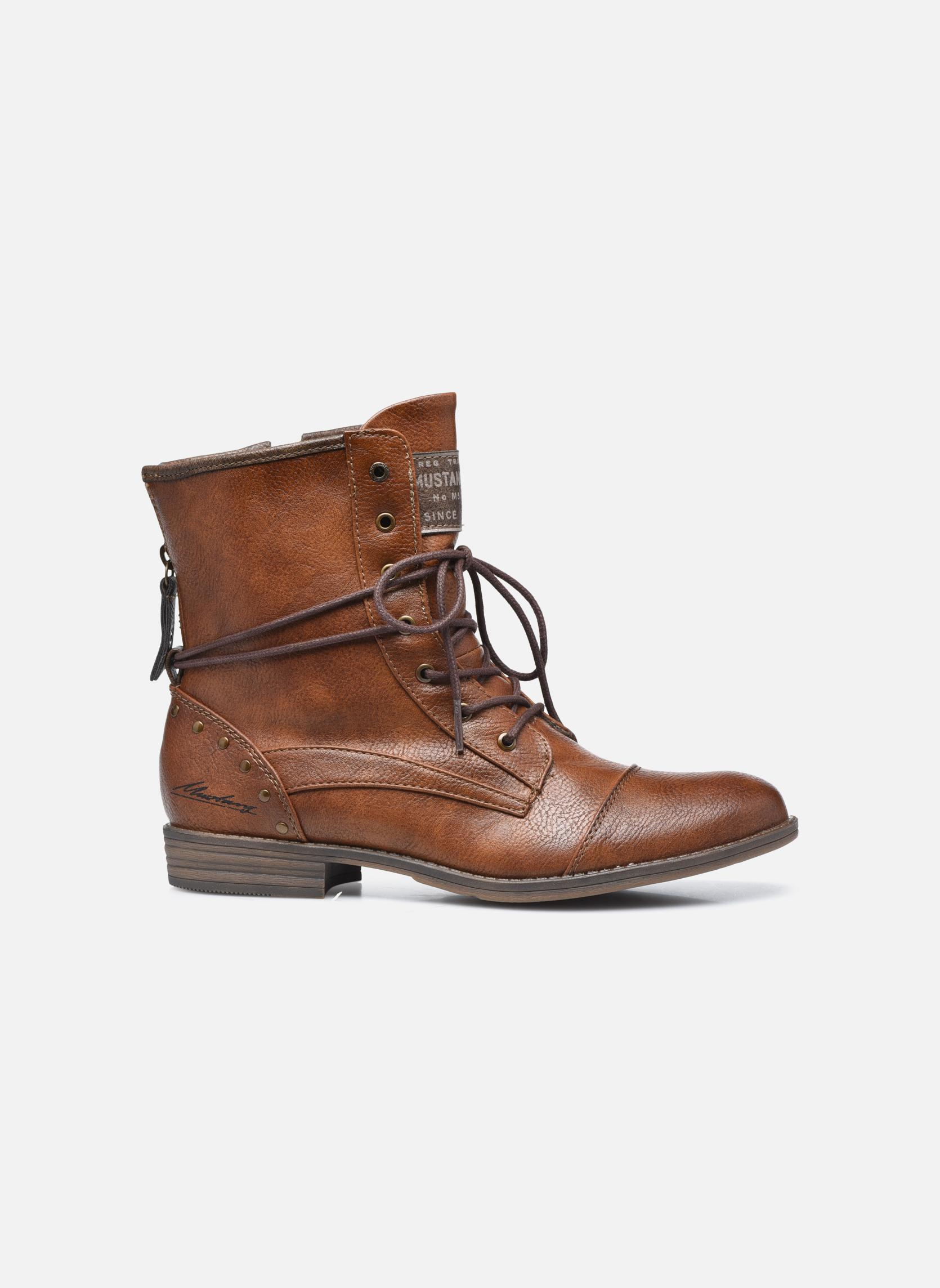 Bottines et boots Mustang shoes Julie Marron vue derrière