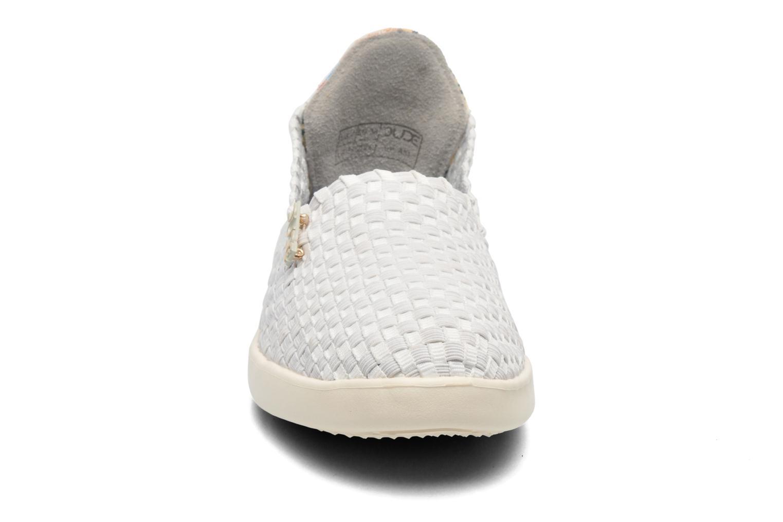Baskets DUDE E-last simple Blanc vue portées chaussures
