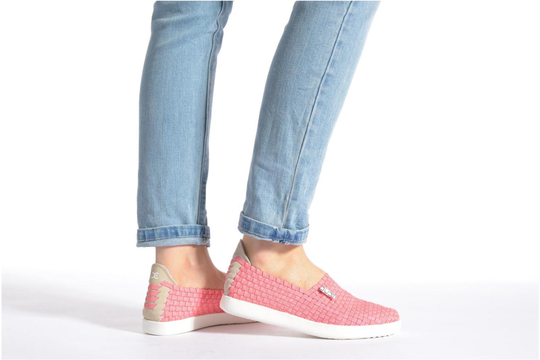 Sneaker DUDE E-last simple blau ansicht von unten / tasche getragen