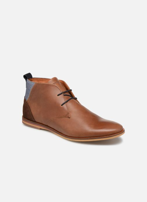 Lace-up shoes Schmoove Swan desert Brown detailed view/ Pair view