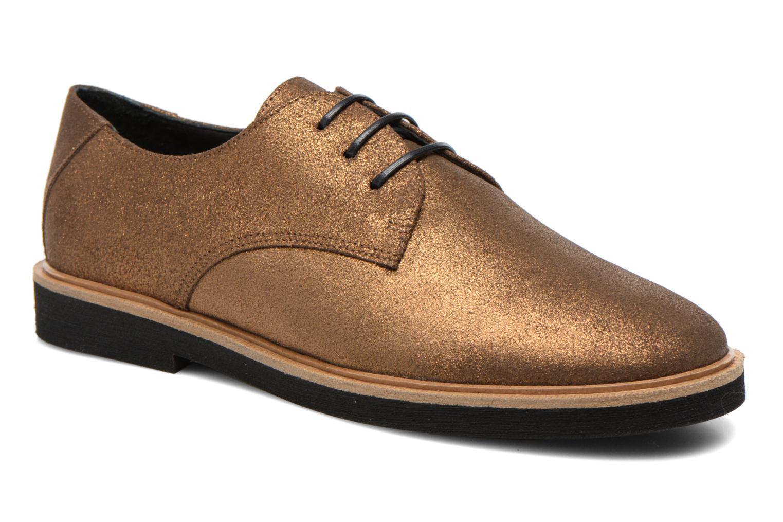 Chaussures à lacets Schmoove Woman Malice Derby Or et bronze vue détail/paire