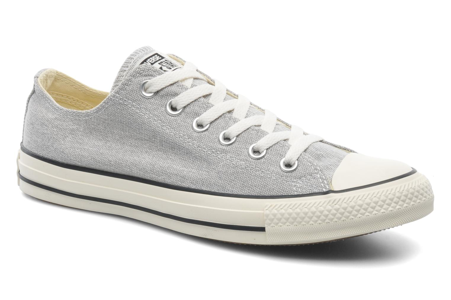 Baskets Converse Chuck Taylor All Star Good Wash Ox M Gris vue détail/paire