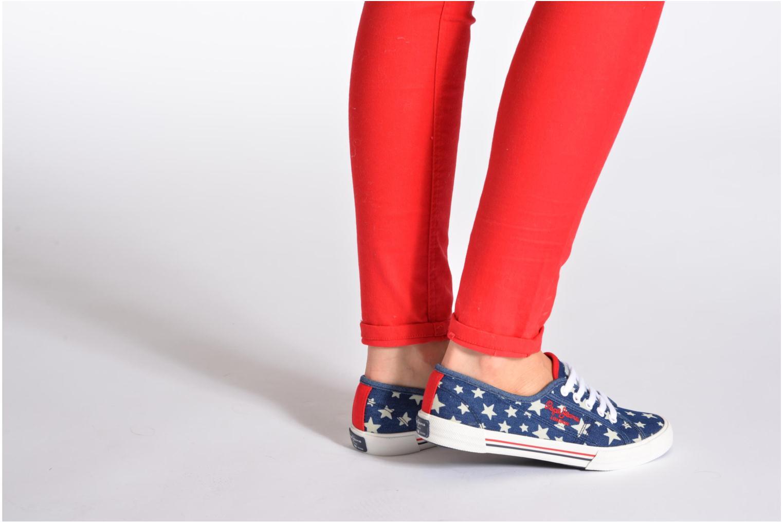 Baskets Pepe jeans Aberlady Jean Star Multicolore vue bas / vue portée sac