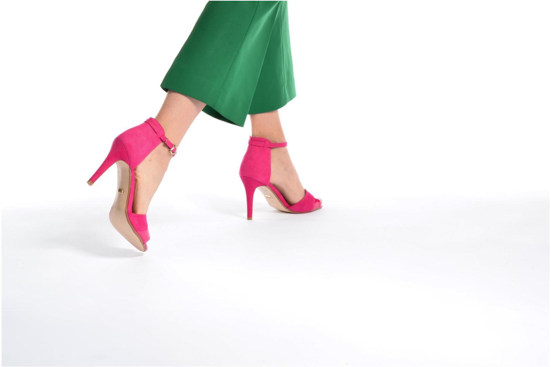 Sandales et nu-pieds Buffalo Olivia Noir vue bas / vue portée sac