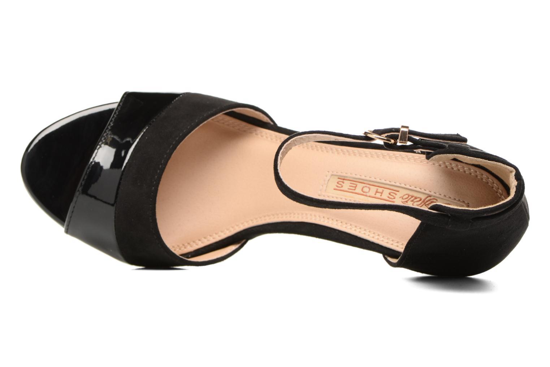 Sandales et nu-pieds Buffalo Olivia Noir vue gauche