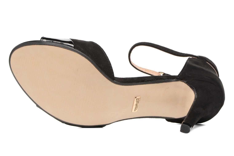 Sandales et nu-pieds Buffalo Olivia Noir vue haut