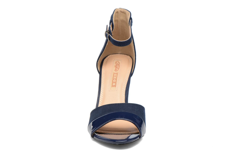 Sandales et nu-pieds Buffalo Olivia Bleu vue portées chaussures
