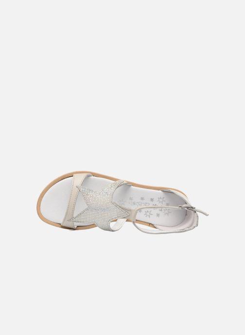 Sandales et nu-pieds Acebo's Constellé Argent vue gauche