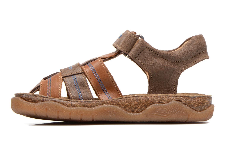 Sandalen Minibel Imed Bruin voorkant