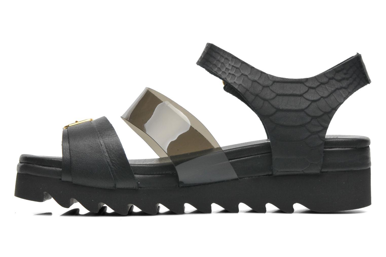 Sandales et nu-pieds Dolfie Nina Noir vue face