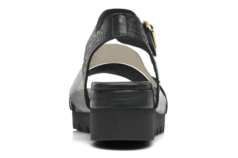 Sandales et nu-pieds Dolfie Nina Noir vue droite