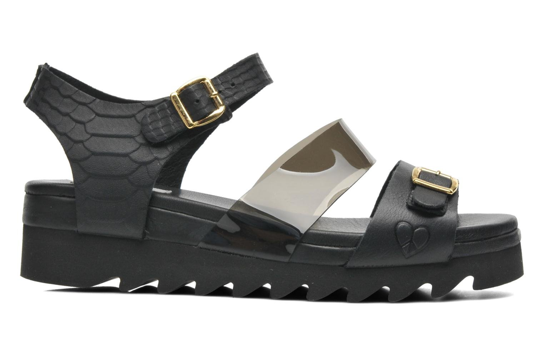 Sandales et nu-pieds Dolfie Nina Noir vue derrière