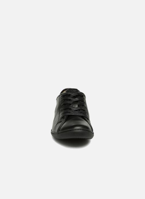 Baskets TBS Cerise Noir vue portées chaussures