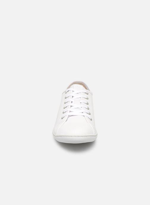 Baskets TBS Cerise Blanc vue portées chaussures