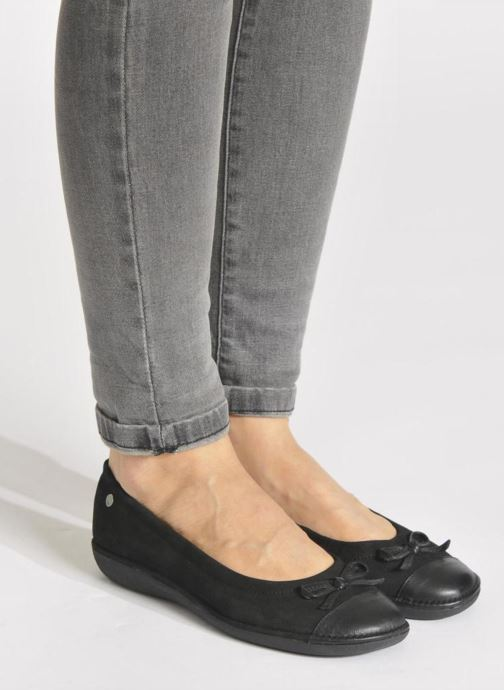 Ballet pumps TBS Mingos Black view from underneath / model view