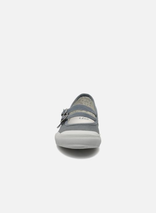 Ballerines TBS Olanno P Gris vue portées chaussures