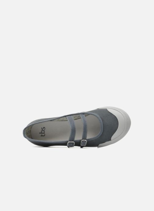 Ballet pumps TBS Olanno P Grey view from the left