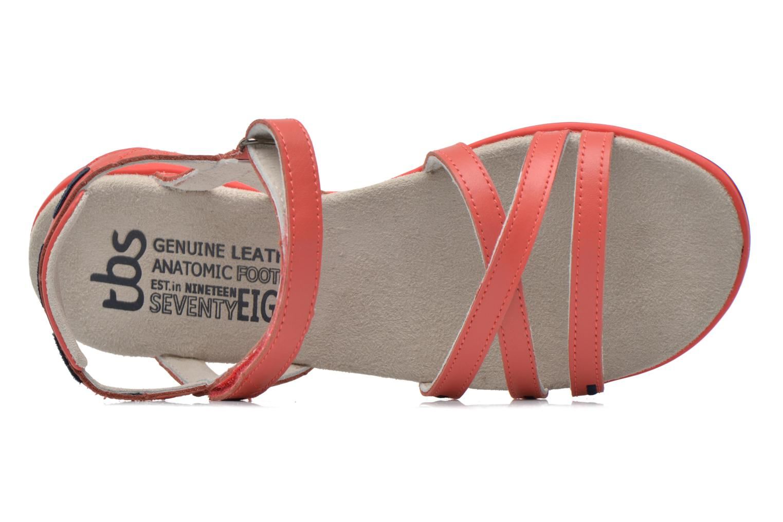 Sandales et nu-pieds TBS Rosita Rouge vue gauche