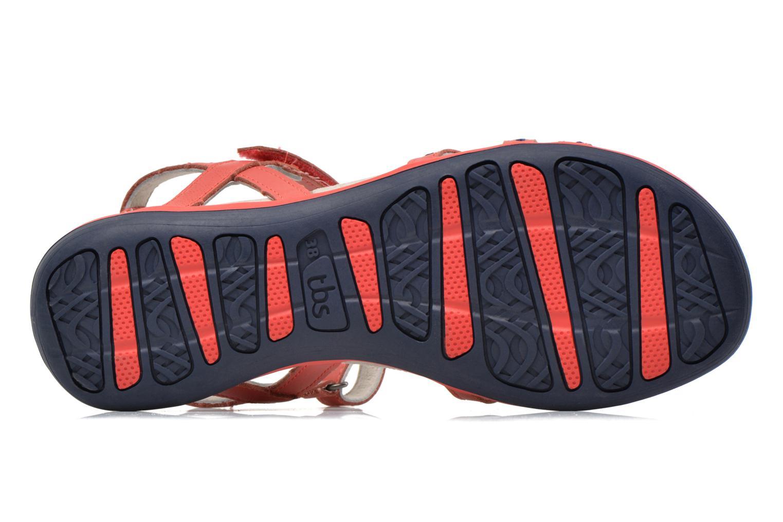 Sandales et nu-pieds TBS Rosita Rouge vue haut