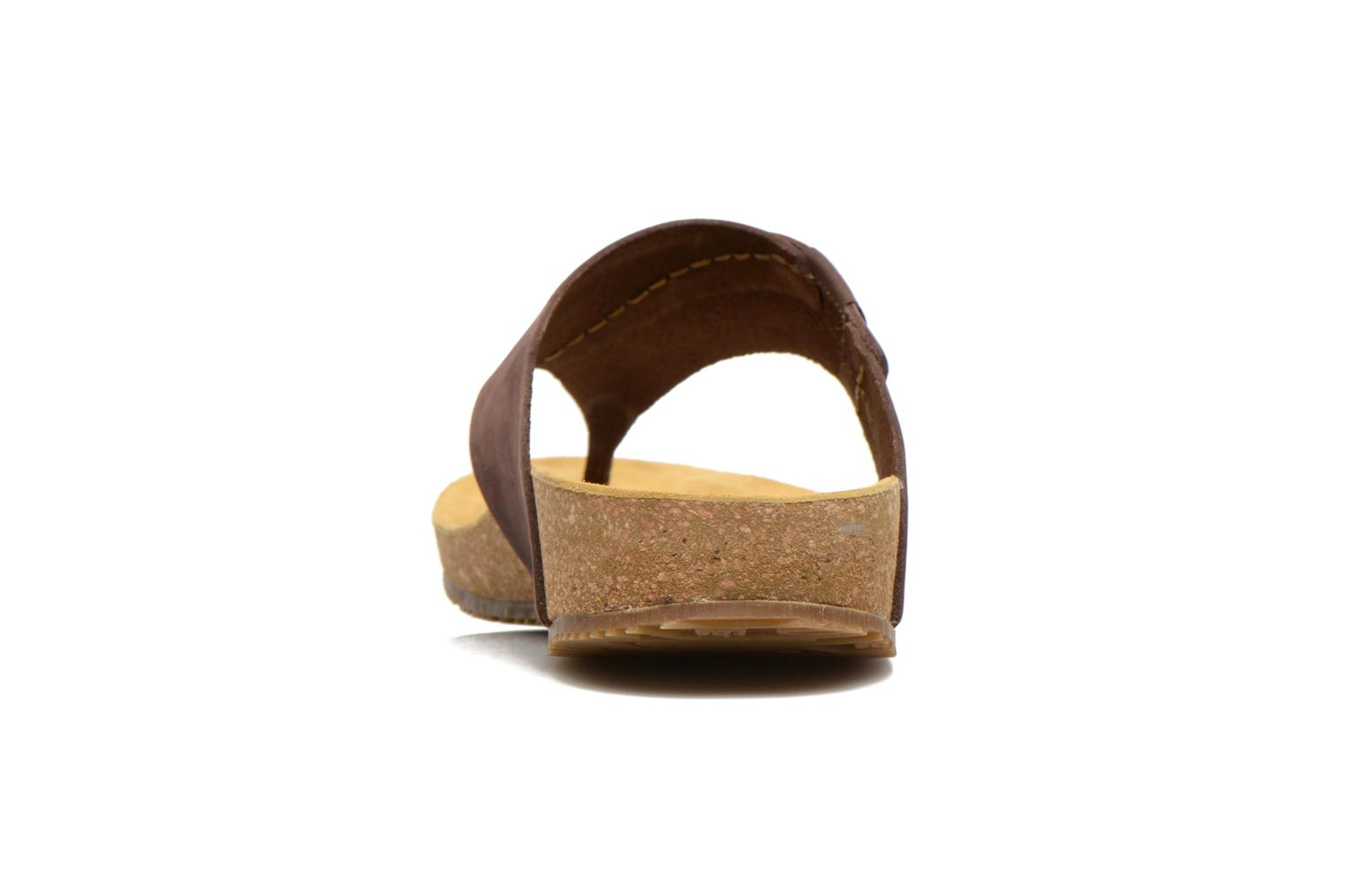 Flip flops TBS Tilley Brown view from the right