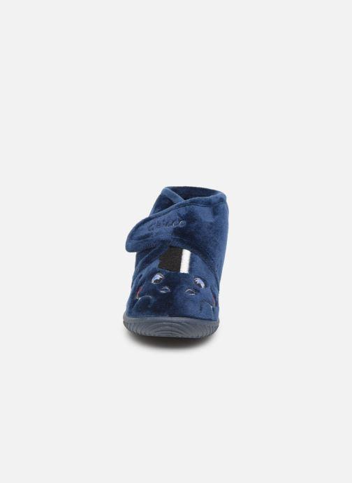 Chaussons Chicco twist Bleu vue portées chaussures