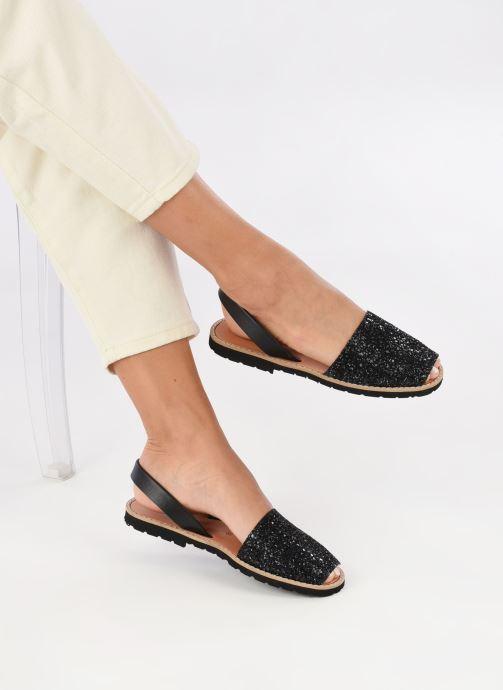 Sandali e scarpe aperte Minorquines Avarca Nero immagine dal basso