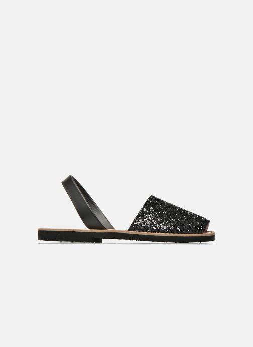 Sandalen Minorquines Avarca schwarz ansicht von hinten