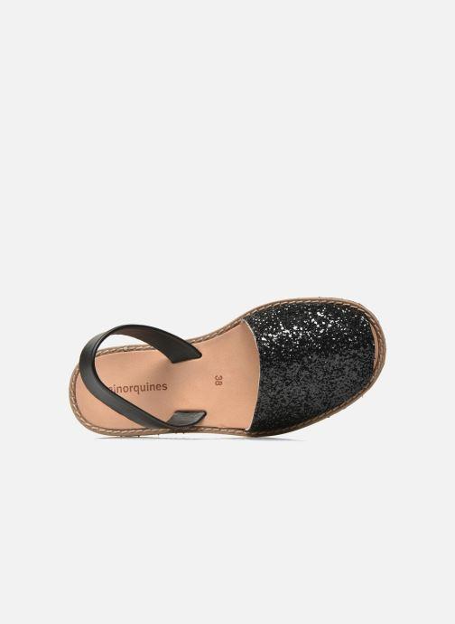 Sandalen Minorquines Avarca schwarz ansicht von links