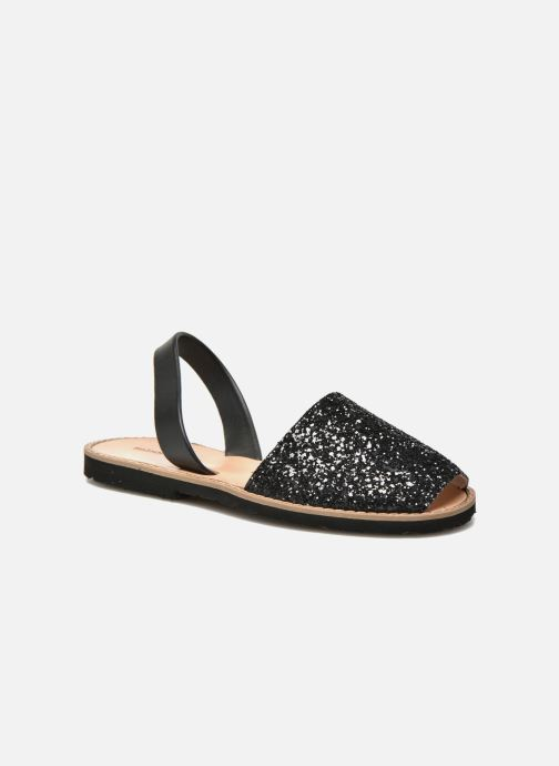 Sandales et nu-pieds Minorquines Avarca Noir vue détail/paire