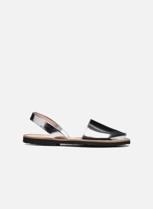 Sandalen MINORQUINES Avarca silber ansicht von hinten