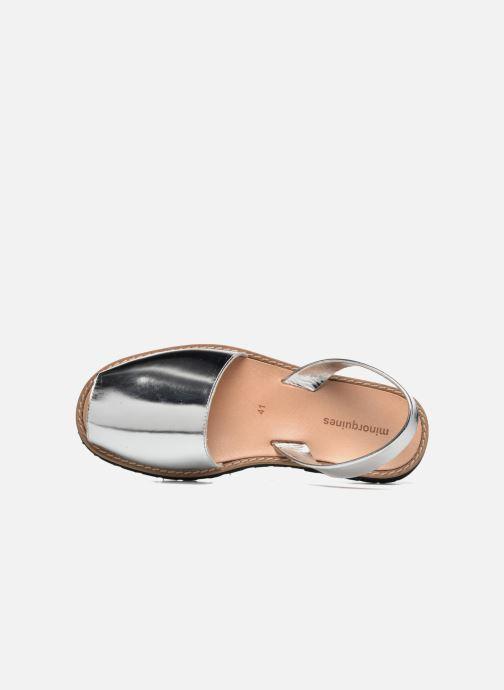 Sandalen MINORQUINES Avarca silber ansicht von links