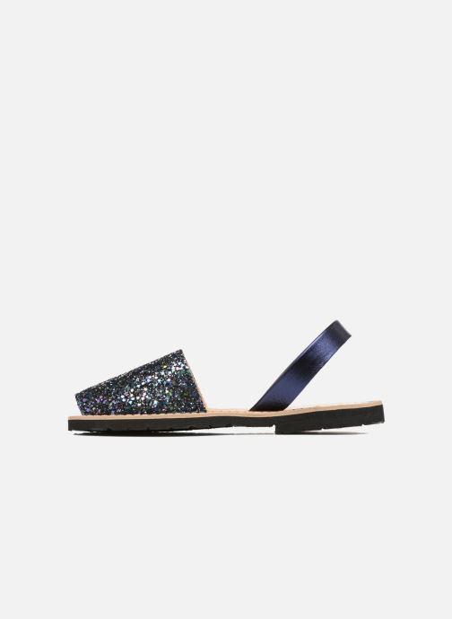 Sandals MINORQUINES Avarca Blue front view