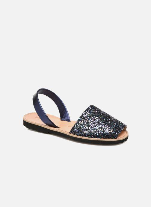 Sandales et nu-pieds Minorquines Avarca Bleu vue détail/paire