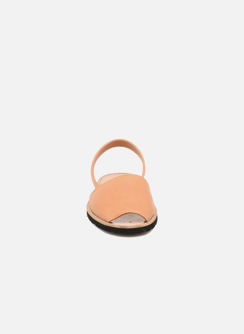 Sandalen Minorquines Avarca beige schuhe getragen