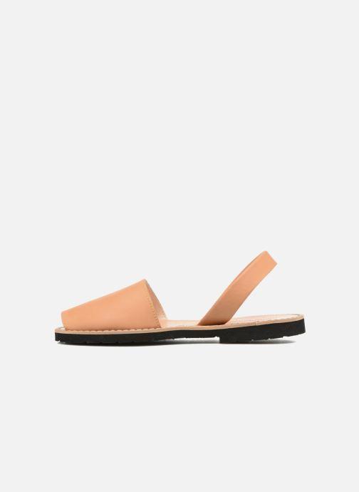 Sandalen Minorquines Avarca beige ansicht von vorne
