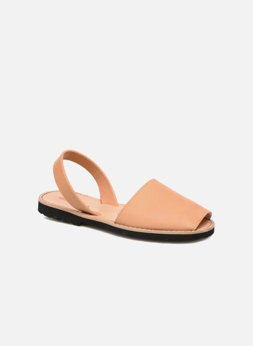 Sandaler Minorquines Avarca Beige detaljeret billede af skoene